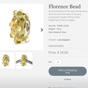Authentic Florence TrollBead .925